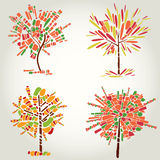Decorative tree from mosaic. Thanksgiving Royalty Free Stock Image