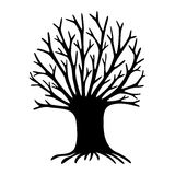 Decorative tree silhouette Stock Images