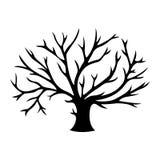 Decorative tree silhouette Stock Image