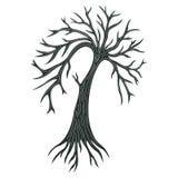 Decorative Tree Silhouette Royalty Free Stock Photo