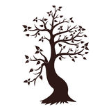 Decorative Tree Silhouette Royalty Free Stock Image