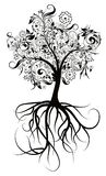 Decorative tree, vector illustration Royalty Free Stock Photo