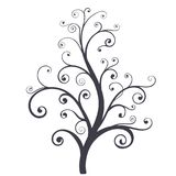 Decorative tree. Vector illustration  on white background Stock Photo