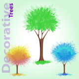 Decorative trees Stock Image