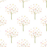 Decorative Trees Background Decorative Trees Seamless Pattern. Stock Photos