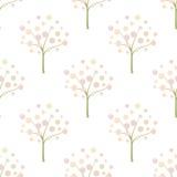 Decorative trees background Decorative trees seamless pattern. Stock Photos