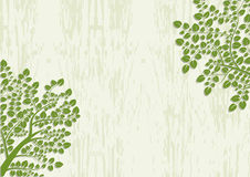 Decorative trees background with grunge texture, Royalty Free Stock Photos