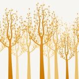 Decorative trees background Royalty Free Stock Photo