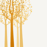 Decorative trees background Royalty Free Stock Images