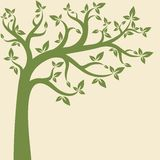 Decorative trees background. Spring banner Royalty Free Stock Image