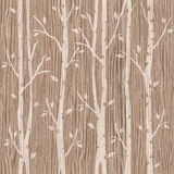 Decorative trees on seamless background - Blasted Oak Groove Royalty Free Stock Images