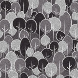 Decorative trees on seamless background - leather texture Royalty Free Stock Photography