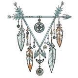 Decorative triangle from arrows. Stock Photos