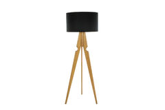 Decorative tripos standing light - FLOOR LAMP / LAMPSHADE Royalty Free Stock Photography