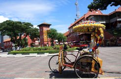 Decorative Trishaw. MALACCA, MALAYSIA - DECEMBER 6:The design of the famous hi-tech decorative trishaw on December 3, 2011 in Malacca . The trishaw ride is a Royalty Free Stock Photo