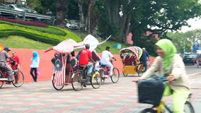 Decorative trishaw at Malacca city  Malaysia. stock video footage
