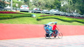 Decorative trishaw at Malacca city  Malaysia. stock footage