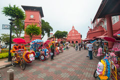 Decorative trishaw at Malacca city Malaysia. Royalty Free Stock Photo
