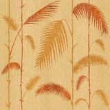Decorative tropical botanical leaves - Interior wallpaper - seamless background Stock Images