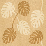 Decorative tropical leaves - seamless background - wood texture Stock Images