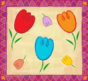 Decorative Tulips Royalty Free Stock Photo