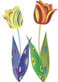 Decorative tulips Stock Photography
