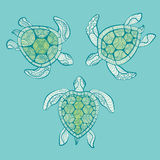 Decorative turtles in water Stock Image
