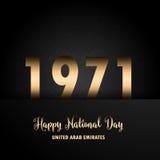 Decorative UAE National Day background Royalty Free Stock Image