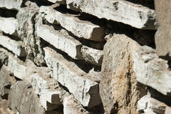 Decorative uneven cracked stone wall Royalty Free Stock Photography