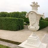 Decorative urn in the park royalty free stock photo