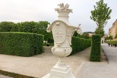 Decorative urn in the park stock photos