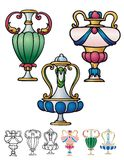 Decorative urns Royalty Free Stock Photography