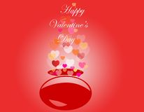 Decorative valentine day background Stock Image