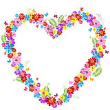 Decorative valentine floral frame Royalty Free Stock Images