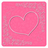 Decorative Valentine's day card. Vector Royalty Free Stock Images