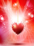 Decorative Valentines heart background Stock Image