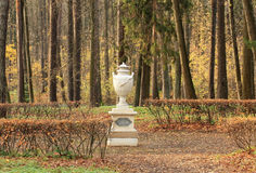 Decorative vase in park Stock Photo