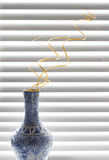 Decorative vase with spiral branches Stock Photo