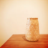 Decorative vase on a table Royalty Free Stock Photography