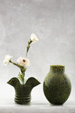Decorative vases and flowers Stock Images