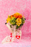 Decorative and vases of flowers Royalty Free Stock Images