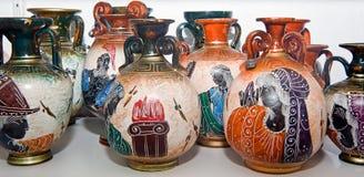 Decorative Vases in Greece Stock Photo