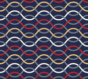 Retro seamless wavy pattern. Stock Images