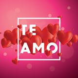 Te Amo Vector Background Royalty Free Stock Photos