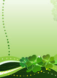 Decorative Vector Background With Four-leafed Clov Royalty Free Stock Photos