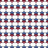 Decorative vector blue and red background - abstract star pattern Royalty Free Stock Photo