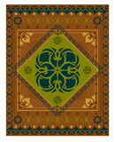 Decorative vector carpet pattern royalty free stock images