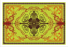 Decorative vector carpet pattern Royalty Free Stock Photos