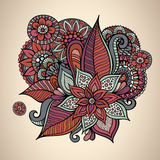 Decorative vector floral vintage card design Royalty Free Stock Photography