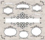 Decorative vector frames Stock Image